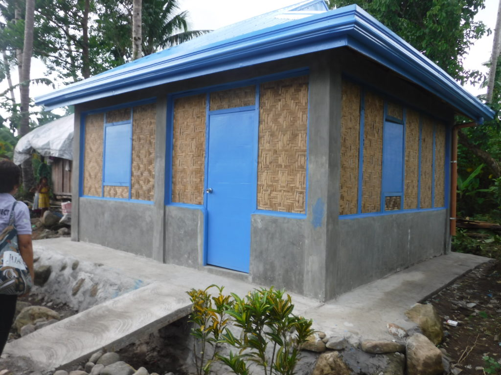 Earthquake and typhoon-resistant house built during Phase 1